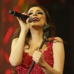 Angham in Red Dress