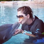 Elissa Kissing Dolphin