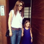 Nancy Ajram photo with her daughter Mila