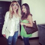 Nawal El Zoghby Photo with her daughter Tia Dib