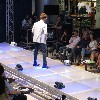 male model on the runway Blue Jeans Festival 2011