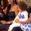 Dominique Hourani with her daughter at the fashion show