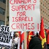 Protest against canada support to war