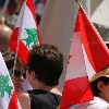 Lebanese Flags in Protests
