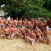 Mister Brazil 2011 Pageant group photo on the beach