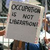 Occupation is not Liberation Sign