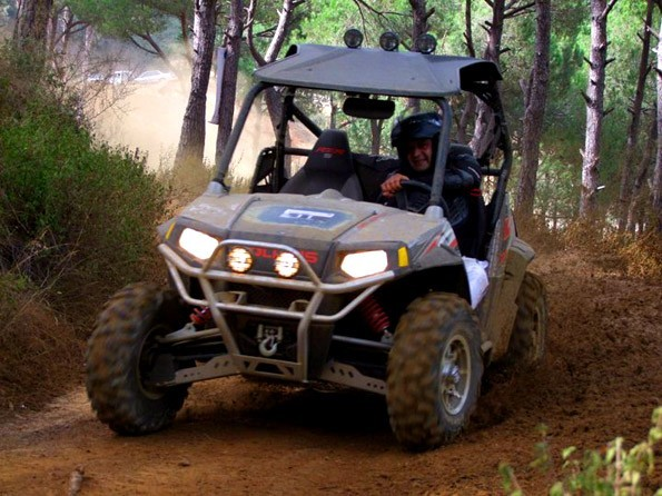 Photo of Toubia Makhoul on his Side by Side Polaris ATV